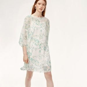 Babaton Passard Sheer Floral Shift Mini Dress